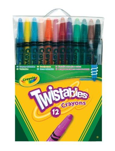 Crayola - 12 Twistable Crayons- Drehen Sie einfach das Ende der Trommel, und Sie sind bereit zu gehen.