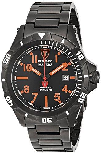 DETOMASO Herren-Armbanduhr Detomaso Matera Tritium Automatic Orange Analog Automatik DT2027-D