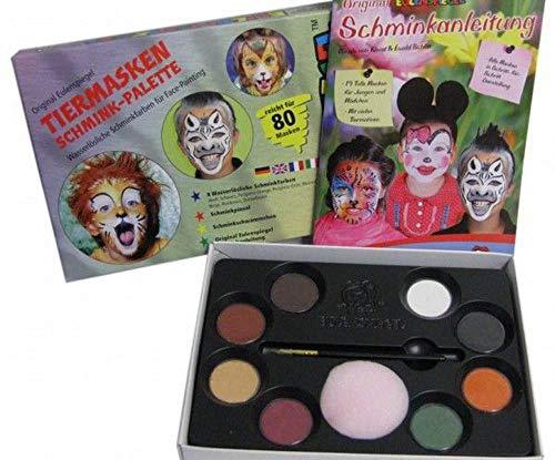 8-Farben-Palette Eulenspiegel Kostüm Körper Gesicht Malen Party-Stage Make-up - Farbe Tiermasken, EU 208038 (Gesicht Malen Kostüm)