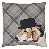 Arthouse Besticktes Hund Kissen, Polyester, Neutral, 45 x 45 x 6 cm
