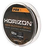 Fox Horizon Dark Camo Semi Bouyant Braid 300m geflochtene Schnur, Karpfenangeln, Angeln auf Karpfen, Karpfenschnur, geflochtene Schnur, Durchmesser/Tragkraft:0.30mm / 22.73kg Tragkraft