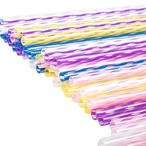 rigide respectueux de l'environnement Stripy pailles (Multicolore)