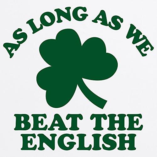 Ireland Beats England Rugby T-Shirt, Herren Wei