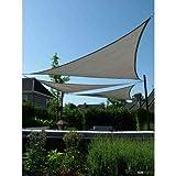 Sunfighters Sonnensegel 90 Grad Dreieck Sonnenschutz Tarp Schattenspender Garten UV-Schutz Atmungsaktiv HDPE 3x3x4,2 Grau