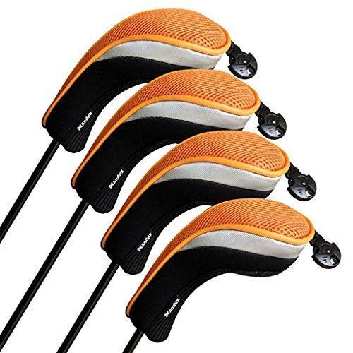 Andux Golfschlägerhauben Hybrid Club Head Covers Set von 4mit austauschbaren Nummer Tags