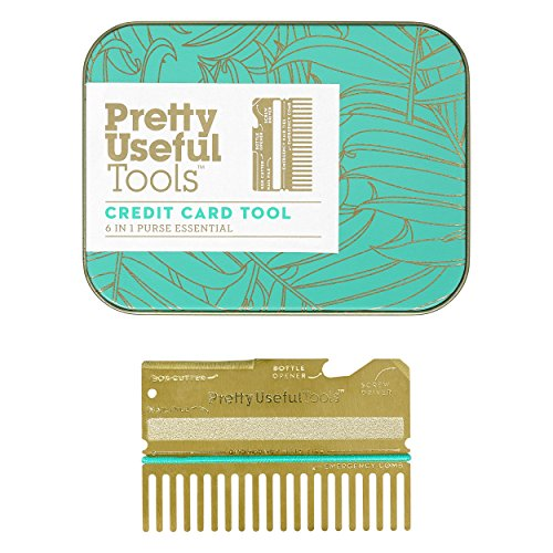 Jolis outils utiles, outil de carte de crédit, outil essentiel 6 en 1, décapsuleur, lime à ongles, tournevis, peigne, coupe-boîte, cravate d'urgence