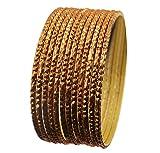 NEU. Touchstone indischen Bollywood Legierung Metall Strukturierte senf gelb Farbe Charming Thing Armreif Armbänder Set 12Stück für Damen.