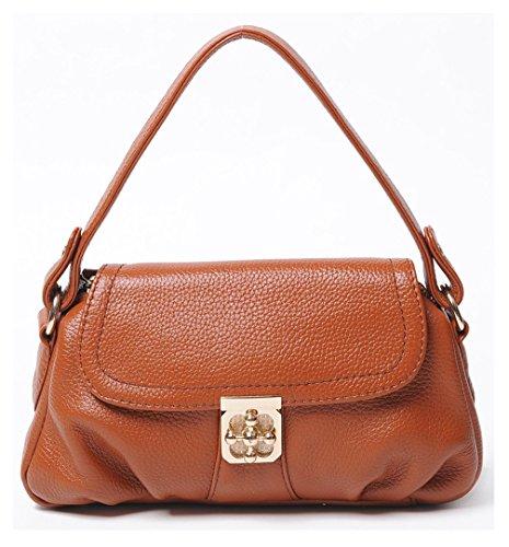 Keshi Leder Cool Damen Handtaschen, Hobo-Bags, Schultertaschen, Beutel, Beuteltaschen, Trend-Bags, Velours, Veloursleder, Wildleder, Tasche Braun