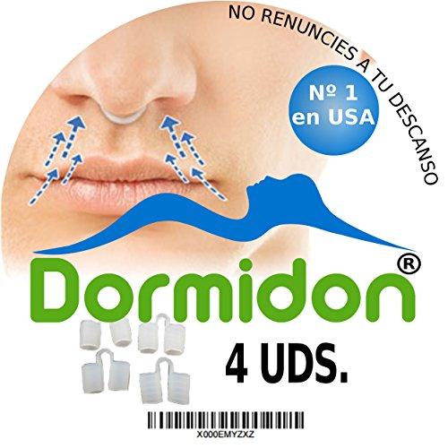 Dormidon - Dilatador nasal 4 unidades - 2 Tamaños distintos - 2 Acabados distintos - Modelo de dilatador nº1 en EEUU - Producto antirronquido - Deja de roncar con los dilatadores nasales - Marca española - 100% satisfacción.