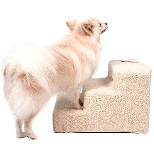 Homdox Hundetreppe Katzentreppe Haustiertreppe mit 3 Stufen für kleinen Haustier Hunde Katze