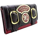 Harry Potter Hogwarts doppia fibbia espresso Nero portafoglio