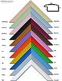 Holz Bilderrahmen lackiert 20x30cm Violett inklusive bruchsicherem Antireflex-Acrylglas (Kunstglas entspiegelt) Profil L4-VIO-AR