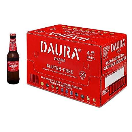 Estrella Cerveza Daura Celiacos Botella Paquete de 24 botellas de 33 Total 792 cl