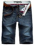 Valuker N6061 Herren Jeans Shorts Sommer Kurze Hose Dunkelblau-30