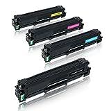 4 Toner für Samsung CLP-415N/XEC CLP-415NW/XEG Xpress C1860FW/XEC CLX-4195FW/TEG - CLP415 CLT-K504S/ELS/CLT-C504S/ELS/CLT-M504S/ELS/CLT-Y504S/ELS - Schwarz 2500 Seiten, Color je 1800 Seiten