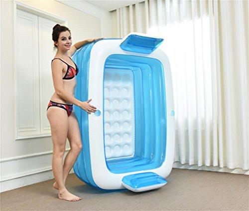 FACAI888 Home Double baignoire gonflable / baignoire adulte / baignoire pliante épais / baignoire lavabo en plastique - piscine pour enfants