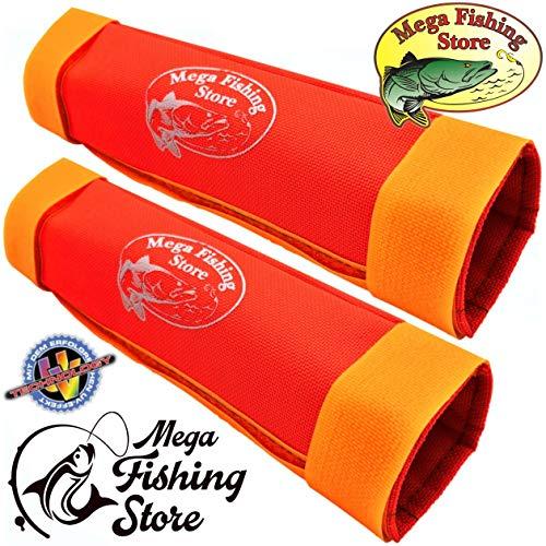 Mega Fishing 2er Set / 2X UV Relingsrutenhalter Bootsrutenhalter Norwegen Reling Rutenhalter - 2 Stück (Klettverschluss-boots)