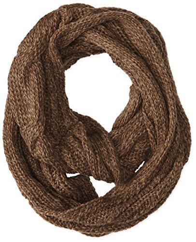 life-is-good-da-donna-a-maglia-infinity-scarf-camoscio-marrone-taglia-unica
