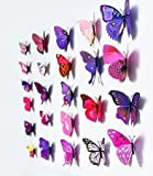 12 St Motiv Home PVC-Sticker Schmetterling Dekoration 3D-Sticker