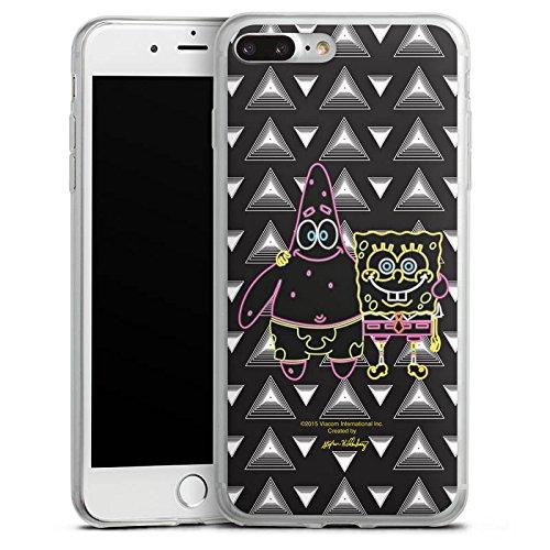 Apple iPhone 8 Plus Slim Case Silikon Hülle Schutzhülle Spongebob Merchandise Fanartikel Spongebob und Patrick Silikon Slim Case transparent