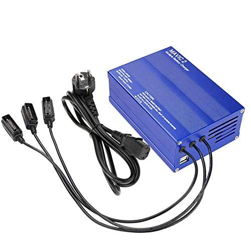 Semme Chargeur de Batterie Drone, Chargeur de Batterie Drone 100-240V pour téléphone avec Chargeur Double Port USB pour DJI Mavic 2pro / Zoom(EU)
