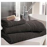 Lions New Hampton 100% Pure Egyptian Cotton Super Soft Quick Absorbent Face Hand Bath Towel Sheet (Charcoal, Hand)