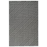 Alfombra tejida plana contemporáneo Canvas Negro y Gris 120x 170cm