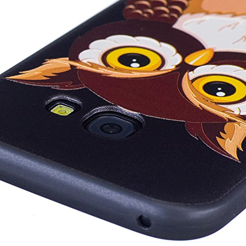 A5 2017 Hülle ,Samsung A5 2017 Shell Case , Galaxy A5 2017 Black Hülle, Cozy Hut® [Liquid Crystal] [Matte Black] [With Lanyard/Strap] Samsung Galaxy A5 2017 Ultra Slim Schutzhülle ,Anti-Scratch Shockp Eule