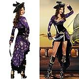 Gorgeous Fluch der Karibik Piraten Halloween-Kostüm -Parteikleid Schwalbenschwanz Piratin Kleidung