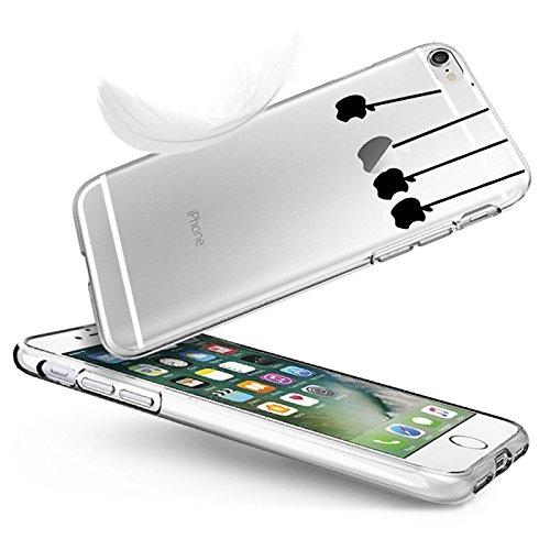 iPhone 6 Plus/6s Plus hülle vanki® Lustig Schutzhülle Clear Case Cover Bumper Anti-Scratch TPU Silikon Handyhülle für iPhone 6 Plus/6s Plus (5,5 Zoll) (Dandelion) Four apples