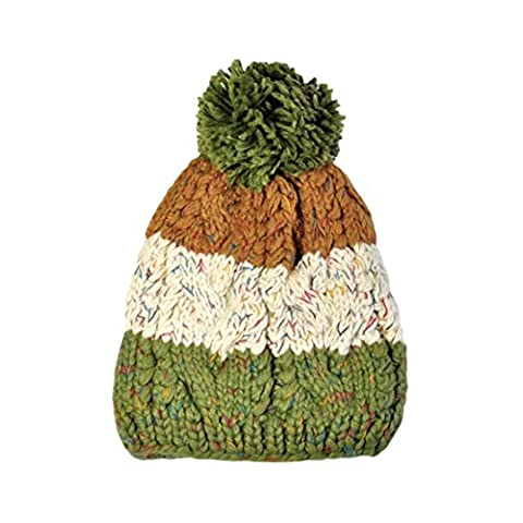 Womens Beanie,Clode® Ladies Womens Soft Chunky Cable Knit Slouch Beanie Bobble Pom Pom Cap Warm Hat (Green)
