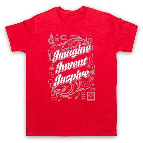 Science Imagine Invent Inspire Herren T-Shirt Rot