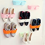 House of Quirk Plastic Wall-Mount Hanging Shoe Organizers