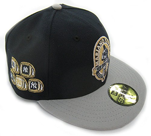 New Era New York Yankees Mariano Rivera Retirement WS Rings 59FIFTY Fitted Cap by Size 7 -