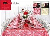 ARCOBALENOPARTY Table Set TOVAGLIA con TOVAGLIOLI in Tessuto Simile A Stoffa Fantasia Holly Rosso Natale Capodanno BEFANA Feste Compleanni