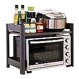 Küchenwagen HWF 2-Tier Mikrowelle Regal Arbeitsplatte Küche Spice Racks Organizer Lagerung Multifunktions-Arbeitsplatte Stehen