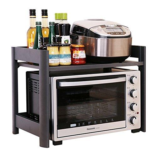 LYN 2-Tier-Mikrowelle Regal Arbeitsplatte Küche Gewürzregale Organizer Lagerung Multifunktions-Arbeitsplatte Stehen