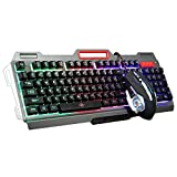 The Long Shop Gaming Mouse Keyboard, Wired Keyboard with Colorful Lights Mousefor PC/laptop/MAC/win7/win8/win10