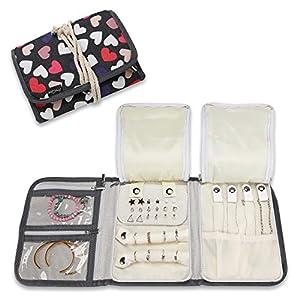ProCase Schmuckrolle Organizer Tasche für Reise, Faltbare Tragbare Schmuckaufbewahrungstasche für Halsketten Ohrringe…