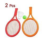 Dcolor Juguete Raqueta de Tenis Badminton Plastico Naranja Rojo para Ninos