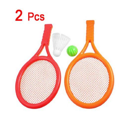 Dcolor Juguete Raqueta Tenis Badminton Plastico Naranja