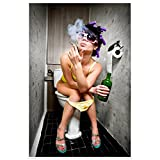 Topposter Sexy Poster - Heiße Hausfrau auf der Toilette (Poster in Gr. 60x90cm)