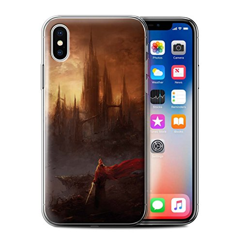 Offiziell Chris Cold Hülle / Gel TPU Case für Apple iPhone X/10 / Apokalypse Muster / Gefallene Erde Kollektion Shadowgate Schloss