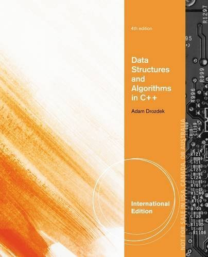 Data Structures and Algorithms in C++ by Drozdek, Adam (2012) Paperback