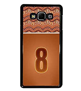 PrintDhaba Numerology Number 8 D-3640 Back Case Cover for SAMSUNG GALAXY E7 (Multi-Coloured)