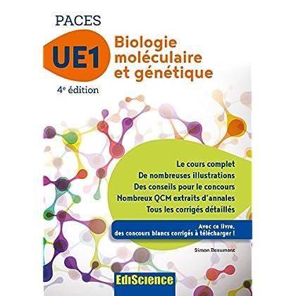 Biologie moléculaire-Génétique UE1 PACES - 4e éd. - Manuel, cours + QCM corrigés