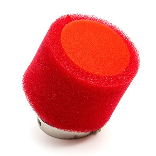 45mm Pitbike Air Filter Red Performance High flow Double Foam Bent Neck
