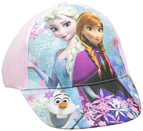 Sun city frozen, cappellino da ragazza, bambina, berretto, casquette frozen, rose, 5 anni