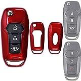 Klapp Schlüssel Hülle Hartschale Cover Rot für Ford Explorer Ranger Mondeo F-150 Galaxy Mustang