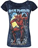 Unbekannt Iron Maiden Legacy of The Beast 2 Girl-Shirt Grau/Navy S